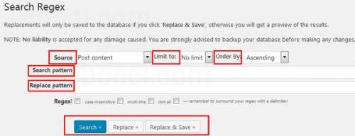Search Regex各種設定方法