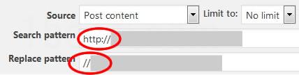 プロトコル相対URLへの変更方法