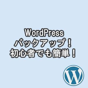 WordPressバックアップ!初心者でも簡単おすすめ方法