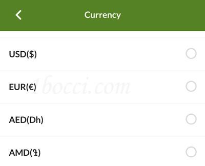 iHerb(アイハーブ)の世界各国の通貨一覧