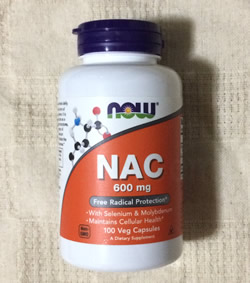 Now Foods NAC(N-アセチルシステイン)600mg100粒(ベジタリアンカプセル)