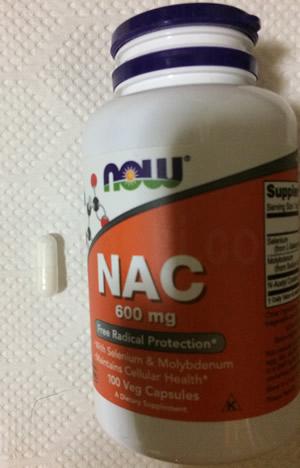 Now Foods NAC(N-アセチルシステイン)600mg