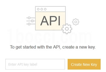 To get started with the API, create a new key