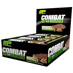 MusclePharmマッスルファーム コンバットクランチ チョコレートチップクッキードー 12バー入