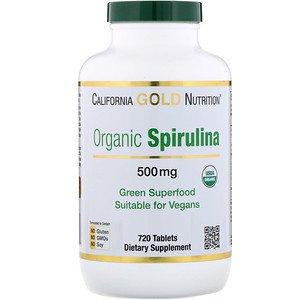 California Gold Nutrition, オーガニックのスピルリナ、USDA認証、500 mg、720錠