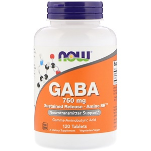 Now Foods GABA(ギャバ) 750mg