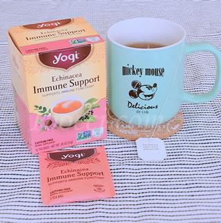 Yogi Tea エキナセア免疫サポート(Echinacea Immune Support)カフェインサポート口コミ