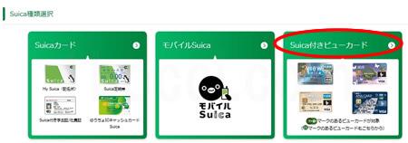 JRE POINT WEBサイトSuica付きビューカード登録