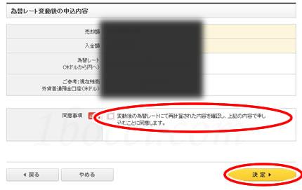 ソニー銀行外貨普通預金売却 為替レート変動決定