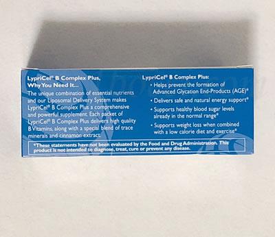 LypriCel リポソームBコンプレックスプラス青色の箱