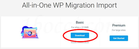 All-in-One WP MigrationのBasicプラン