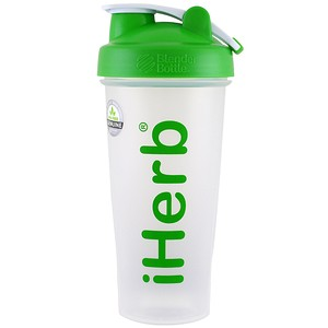 iHerb Goods ブレンダーボール入りブレンダーボトル グリーン 28オンス