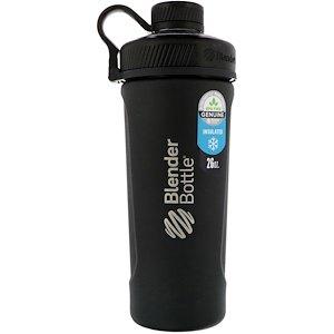 Blender Bottle ブレンダーボトルラジアン 断熱ステンレス製マットブラック26オンス