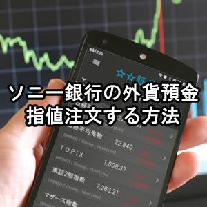 難しい事はない!ソニー銀行の外貨預金を指値注文する方法