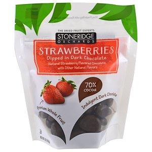 Stoneridge Orchards, ダークチョコ・ディップ・ストロベリー (142 g)