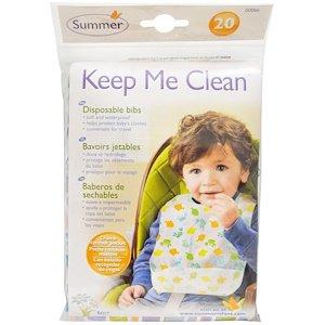 Summer Infant, キープ・ミー・クリーン、使い捨てよだれかけ、よだれかけ 20 枚