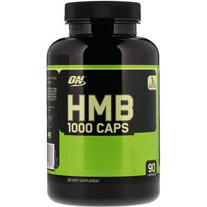 Optimum Nutrition, HMB 1000キャップス、90カプセル