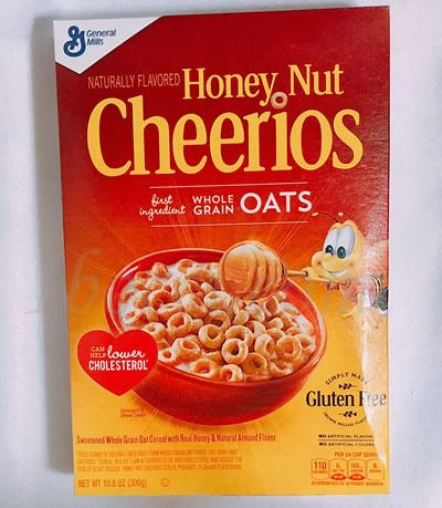 蜂蜜の甘さが丁度良いGeneral Mills Honey Nut Cherrios(ジェネラルミルズハニーナットチーリオス)のレビュー