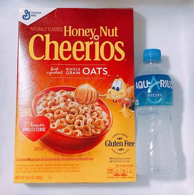 General Mills Honey Nut Cherrios(ジェネラルミルズハニーナットチーリオス)の大きさ・サイズ比較