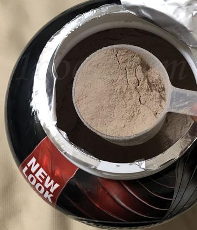 Muscletech ニトロテック ホエイペプチドとアイソレートのプライマリーソース ミルクチョコレート味の色はチョコレートと一緒