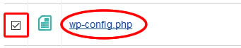 「wp-config.php」