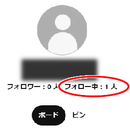 ボードを作成するアカウントのフォロー人数にボードのフォローは含まれない。