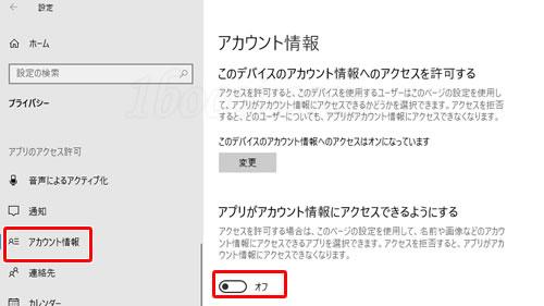 Windows10のセットアップ・初期設定:アカウント情報