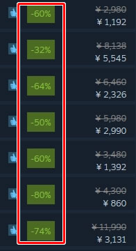 steamのセール商品がとにかく安い!