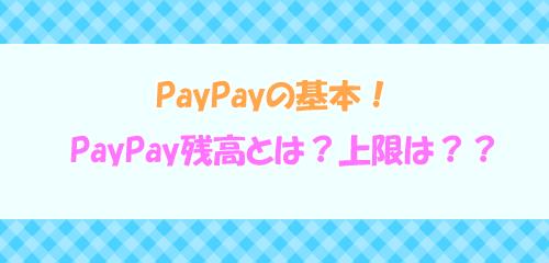 PayPayの基本